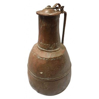 Medium copper flagon with lid
