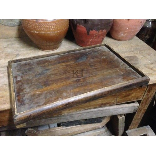 wooden Tray With Lip