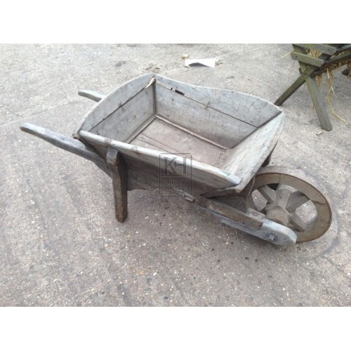 Charming Wooden Wheelbarrow