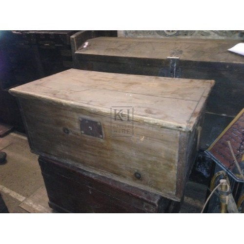 Plain Wooden Rectangular Chest