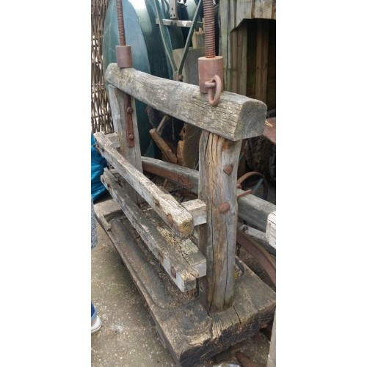 Aged wood press