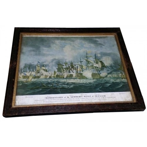Battle of Trafalgar framed picture
