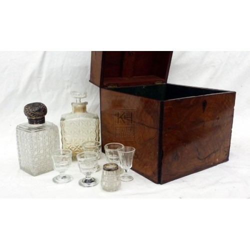 Antique decanter set & box