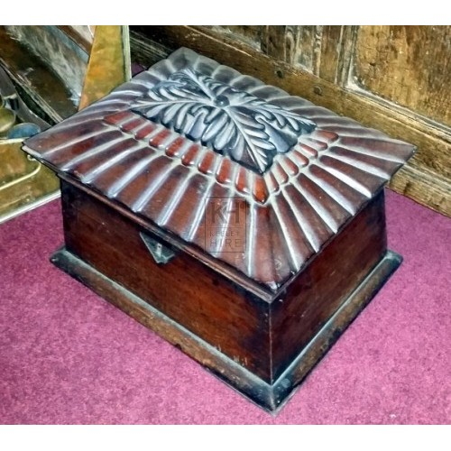 Polished carved small chest