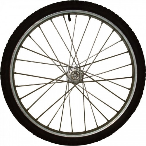 Bicycle wheel - tyre & metal rim