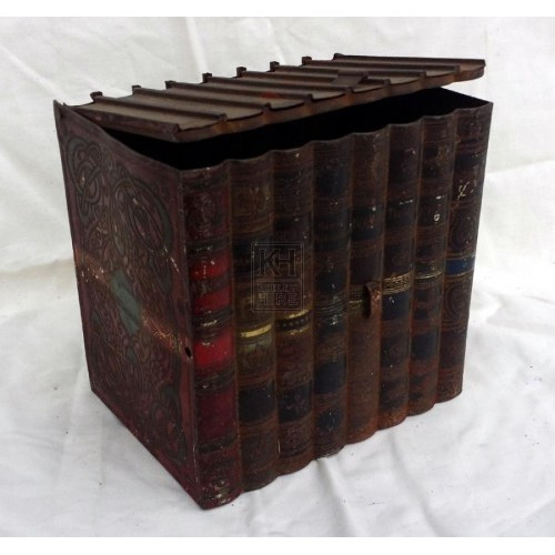 Metal book tin