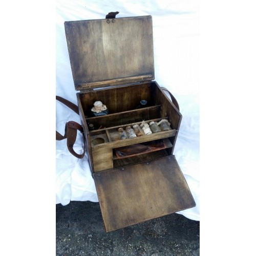 Doctors medicine box with strap