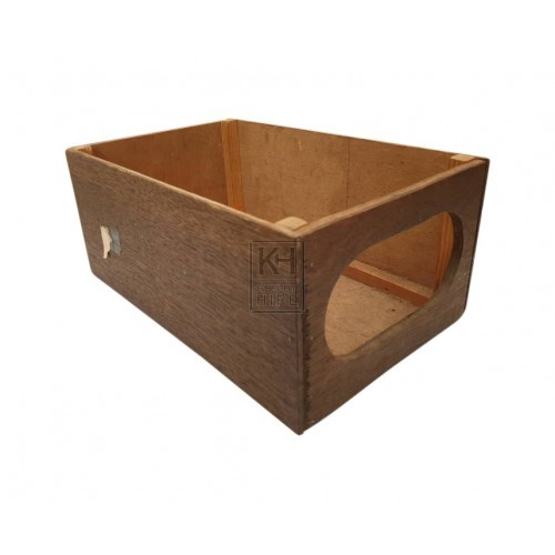 Wood drapers box