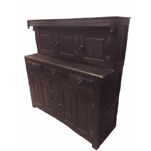 Dark wood court cupboard