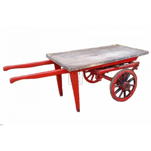Plain 2-wheel flat handcart