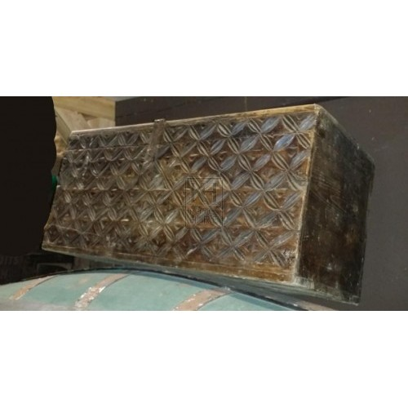 Dark wood medium carved chest