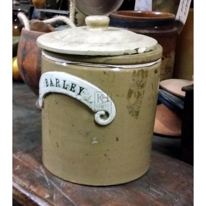 Ceramic barley jar
