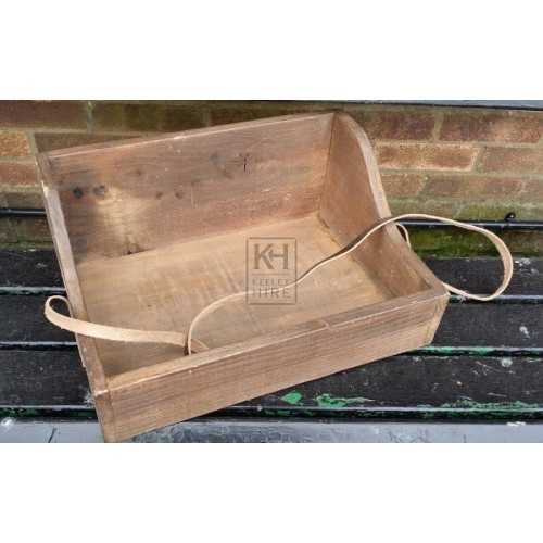 Shaped wood sellers tray