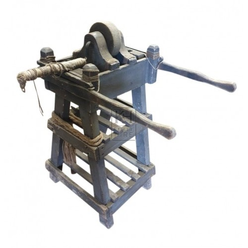Wood grindstone stand
