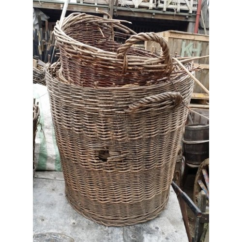 Broken wicker baskets