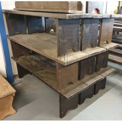 Simple plain wood bench