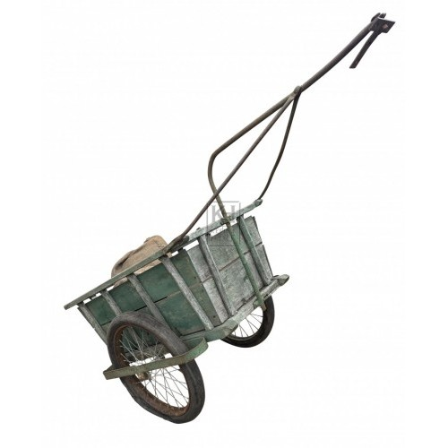 Green metal trailer