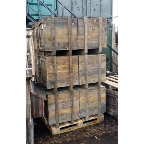 Medium aged timber crates