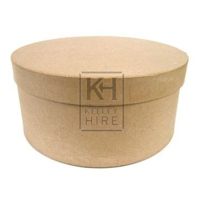 Plain card round hat box