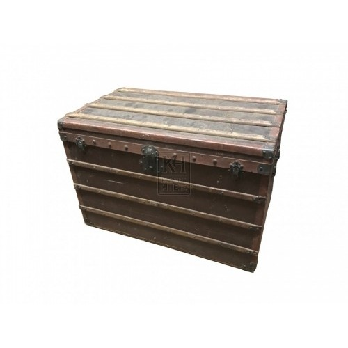 Wooden Trunk with Banding