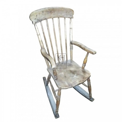 Plain wood rocking chair