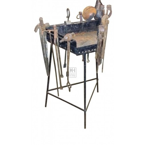 Triangular blacksmiths iron rack