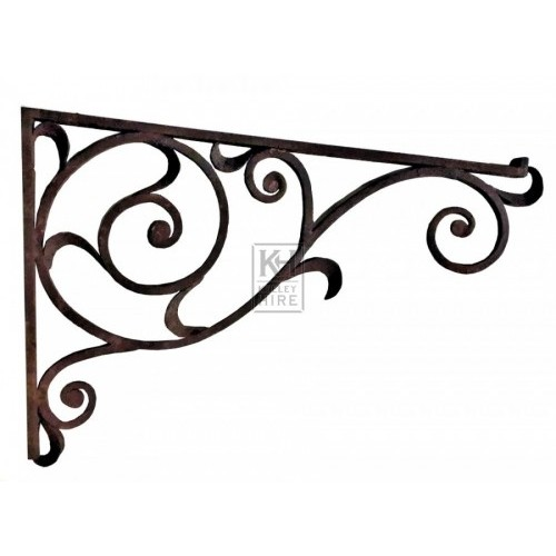 Rusty iron scroll bracket