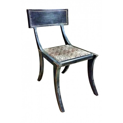 Black curved leg chair