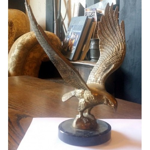 Brass eagle on base