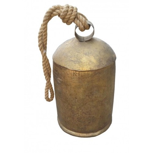 Large gold cow bell