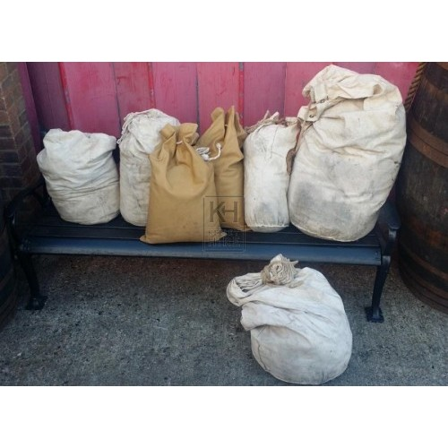 Assorted canvas sacks