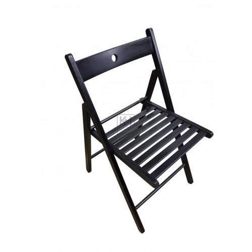 Black Fold-Away Chair