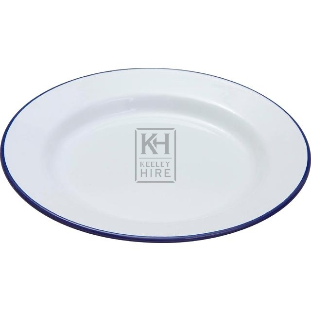 White enamel plate