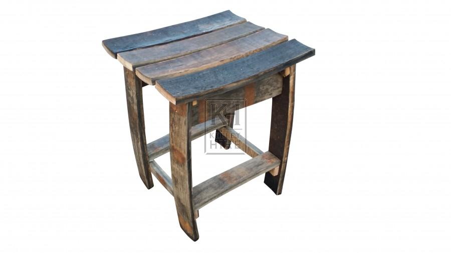 Barrel stave stool