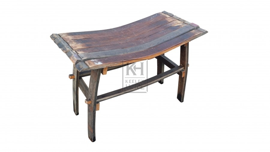 Barrel stave low stool