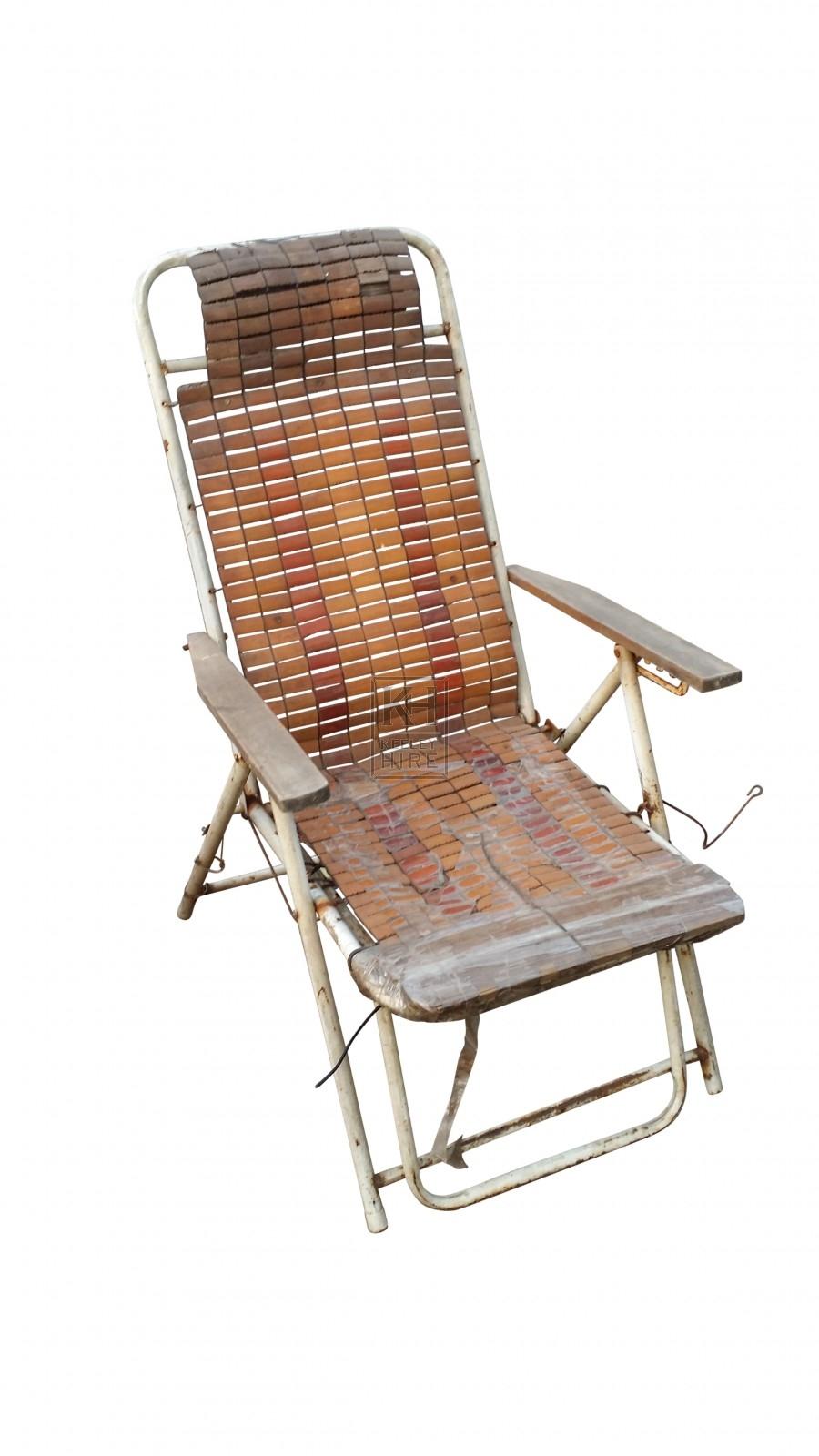 Woven deck chair