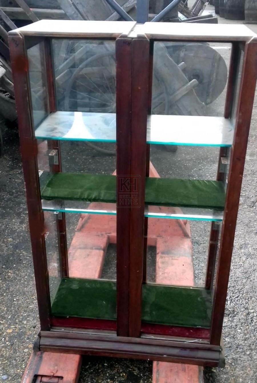 Medium wood glass display cabinet