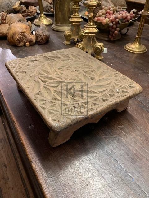 Decorative Low Carved Plinth
