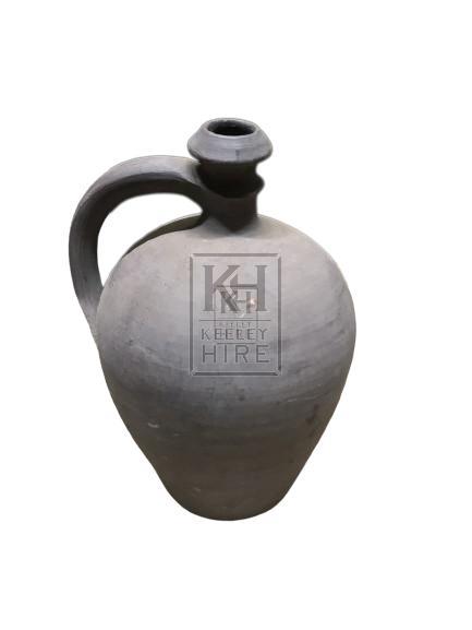 Black Stoneware Bottle