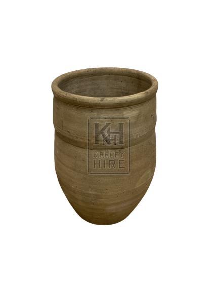 Grey Clay Simple Pot