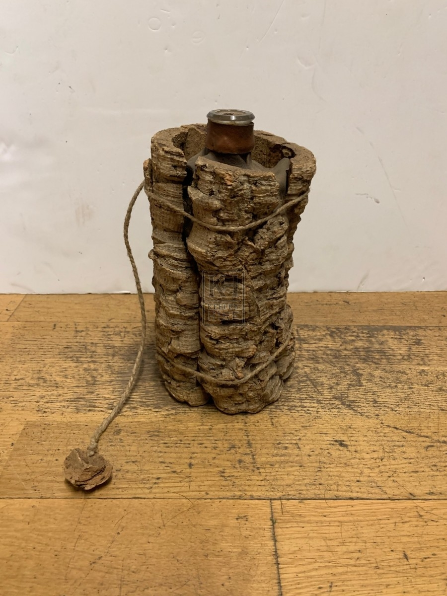 Bark Covered Bottle