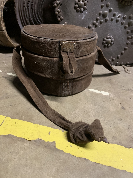 Suede Round Stacking Bag