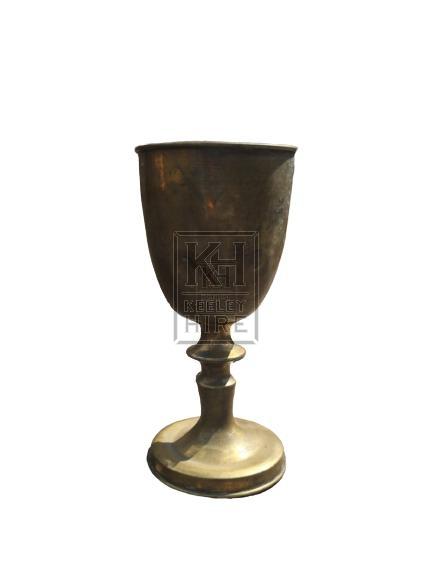 Brass Goblet With Ornate Stem