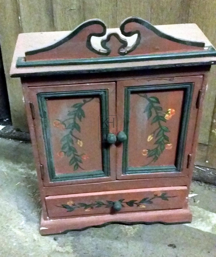 Small wood painted cupboard