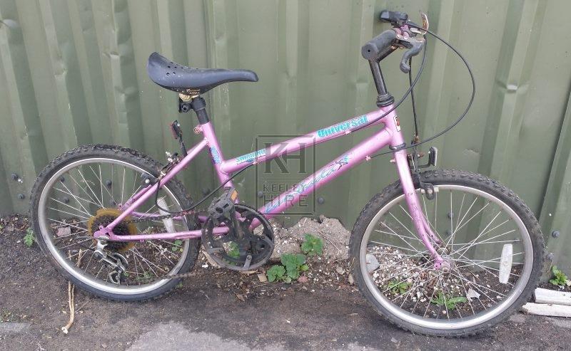 Girls pink modern bicycle