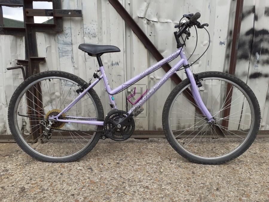 Modern ladies purple bicycle