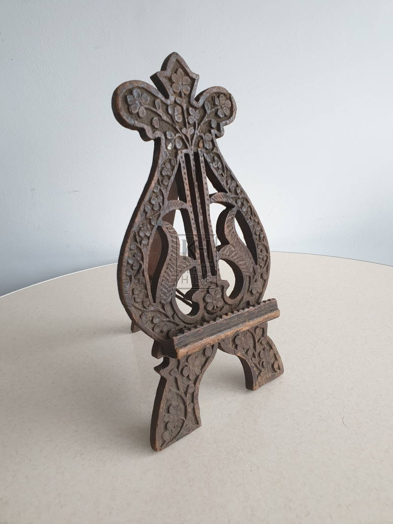 Carved book stand