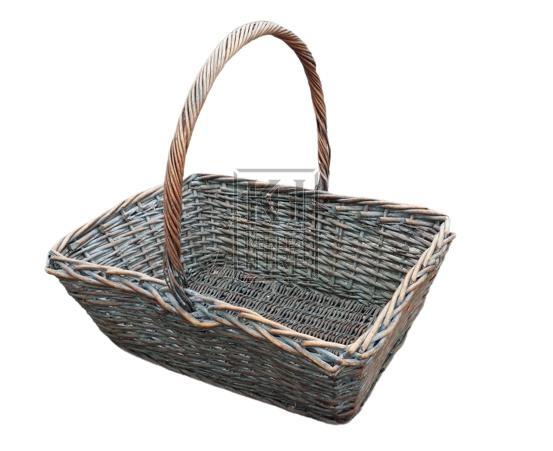 Very large wicker flower basket