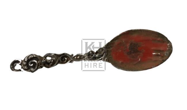 Silver wax sealing spoon