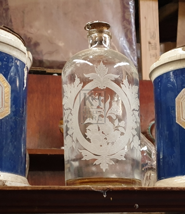 Glass period chemist bottle